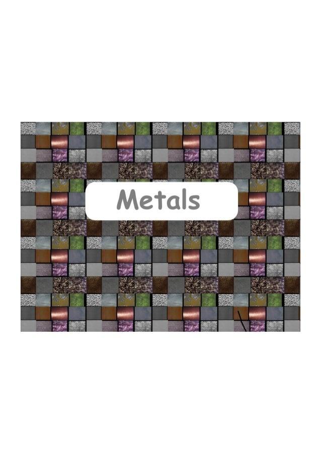 Unit 6. metals