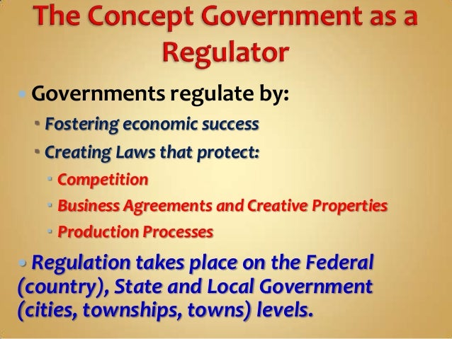3 governments regulate