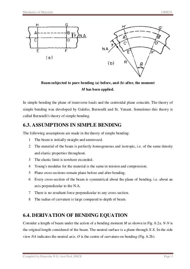 Unit 6: Bending and shear Stresses in beams