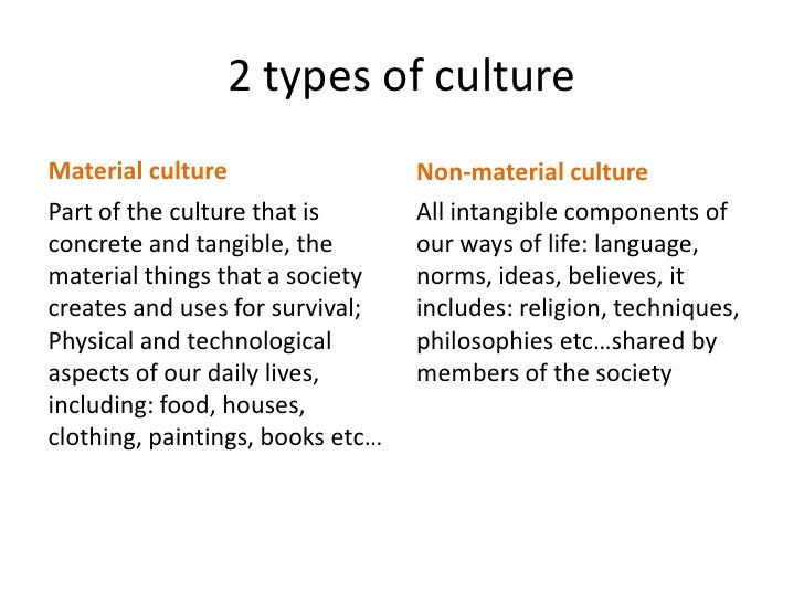 What Are Two Types Of Culture