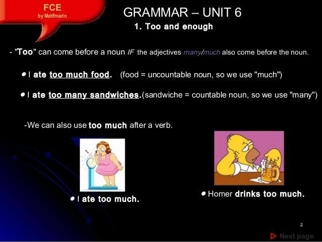 Unit 6 Grammar Contents Slide 2