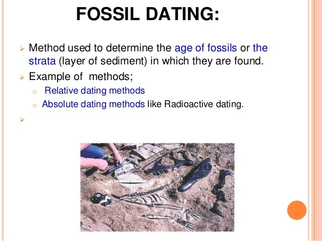 determine the age of a fossil relative dating