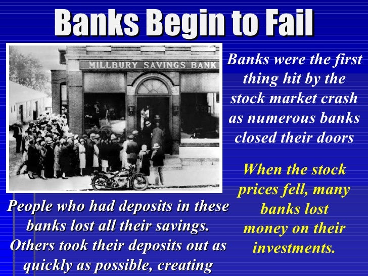 bank runs during the great depression essay How can the answer be improved.