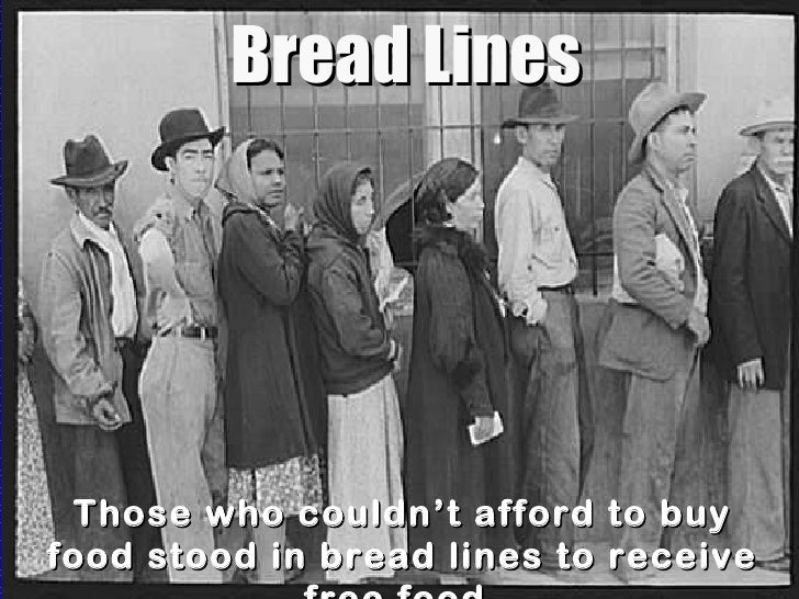 Soup Kitchens And Bread Lines Definition