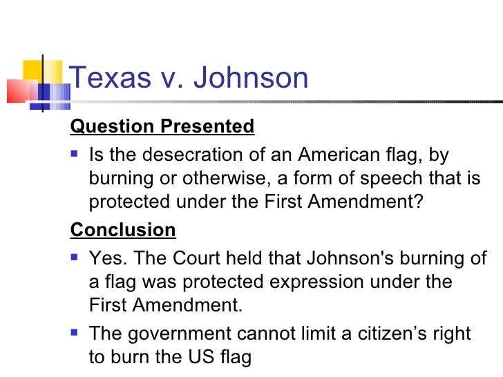gregory lee johnsons freedom court case essay Texas v johnson (1989) among the protesters was gregory lee johnson johnson appealed his conviction and his case eventually went to the supreme court.