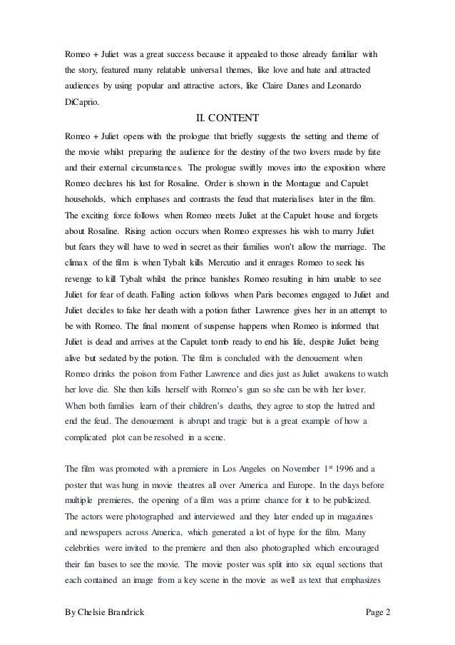 romeo and juliet description