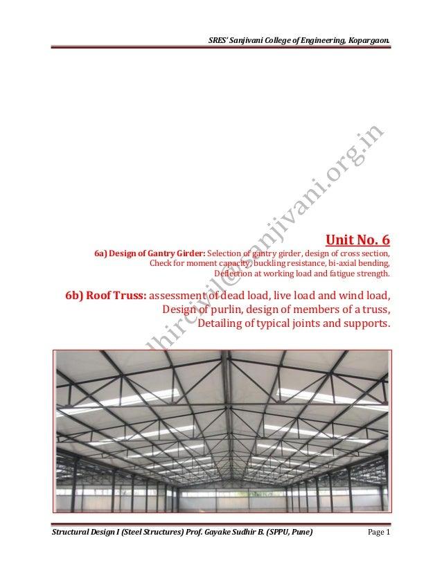 Design of industrial roof truss