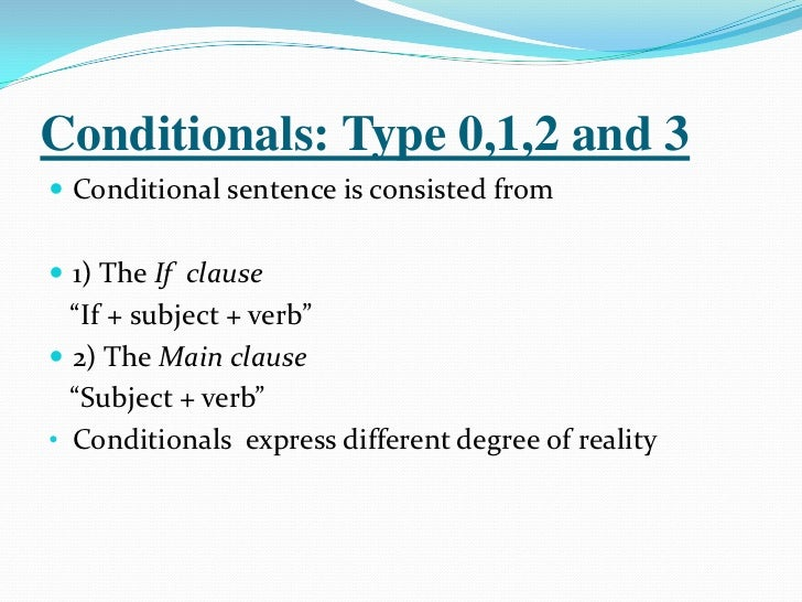 Conditionals, English for Palestine
