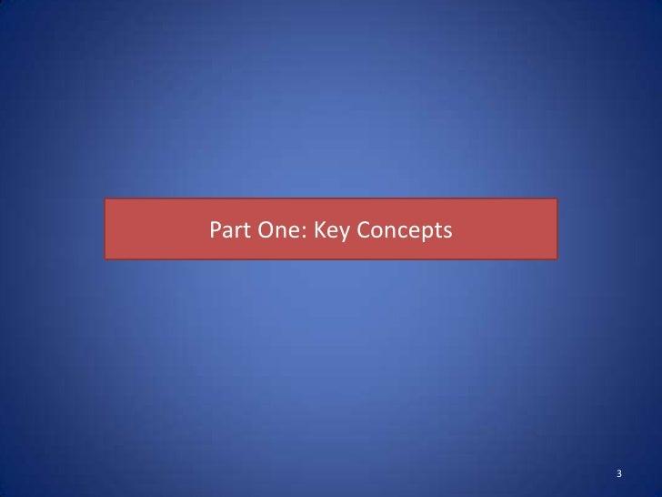 Part One: Key Concepts                         3