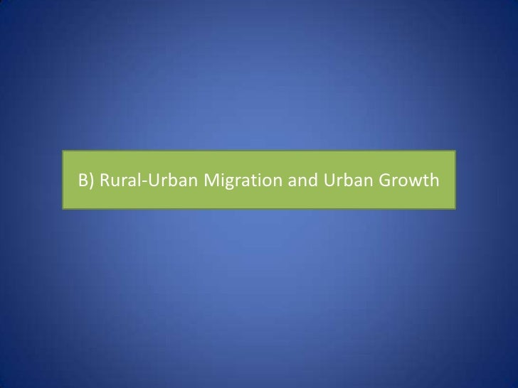 What is urban growth?