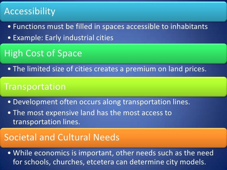 B) Models of Urban Land Use