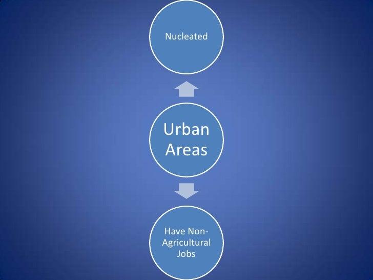 NucleatedUrbanAreasHave Non-Agricultural   Jobs