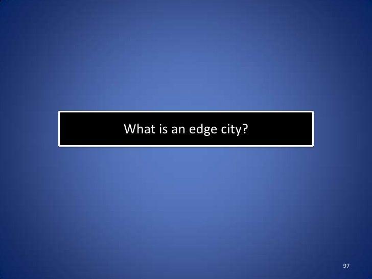 What is urban sprawl?                        100