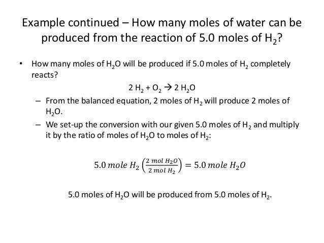 Unit 7 2 Stoichiometry - Mole