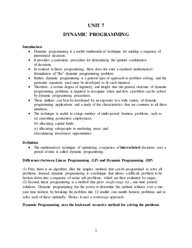 introduction to dynamic programming pdf