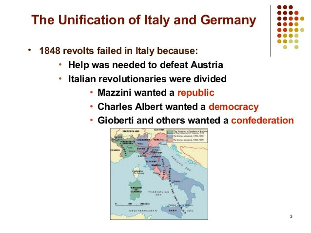 italian unification between 1815 1848 essay The unification of italy, 1815-1870 the central focus of this part of the topic should be on the implications of the 1848 revolutions for the unification process.