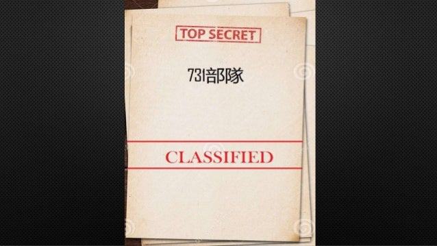 INTRODUCTION • COVERT BIOLOGICAL AND CHEMICAL WARFARE RESEARCH AND DEVELOPMENT UNIT OF THE IMPERIAL JAPANESE ARMY • RESPON...