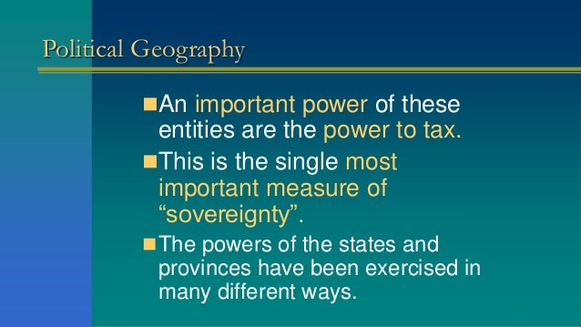 political geography examples
