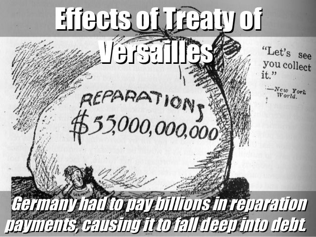 treaty of versailles from wwi to wwii essay Wwi ended with germany signing the treaty of versailles germany was forced to sign this treaty, because if they did not sign the treaty, then they would be attacked.