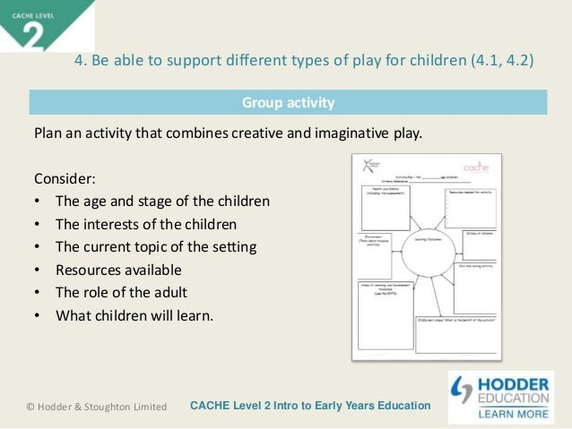 cache childcare unit 2 Cache level 3 childcare- unit 2 assignment 4391 words | 18 pages unit 2 assignment a child develops through its whole life they can develop physically, linguistically, intellectually.