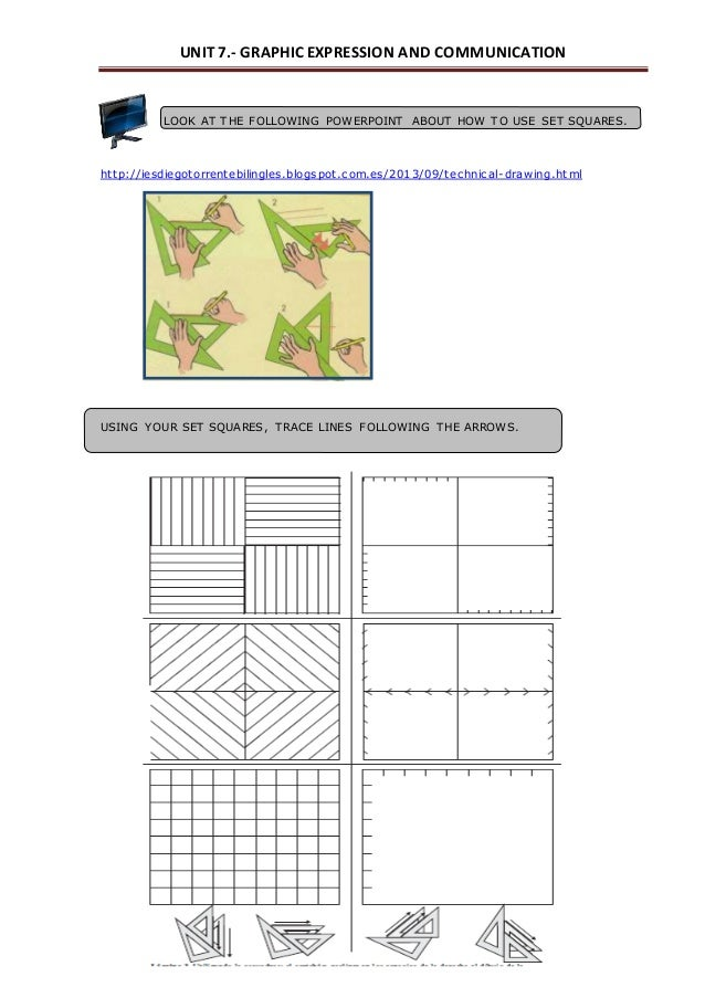Drawing Parallel Lines Using Set Squares : Unit techniques for graphic representation