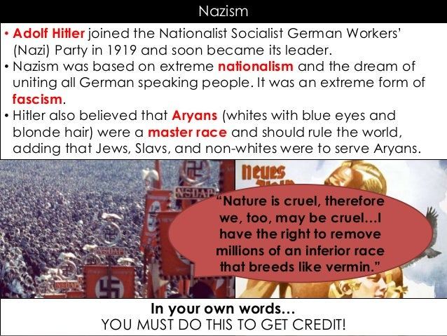 a discussion of nationalist socialist german workers party The national socialist german workers' party (nsdap), better known as the nazi party, was the ruling political party of germany from 1933 to 1945 under adolf hitler.