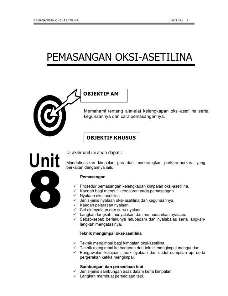 PEMASANGAN OKSI-ASETILINA                                                 J1003 / 8 /   1                                 ...