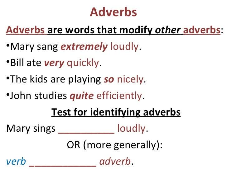 Unit 8 adverbs – Identifying Adverbs Worksheet