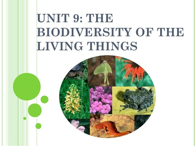 UNIT 9: THEBIODIVERSITY OF THELIVING THINGS
