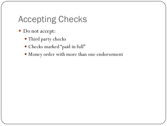 Accounting For Stale Checks
