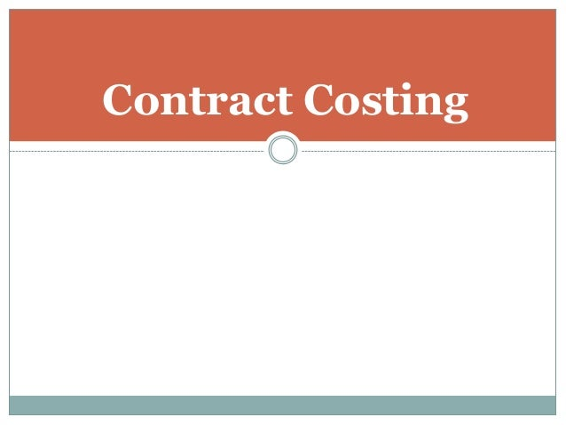 Contract Costing