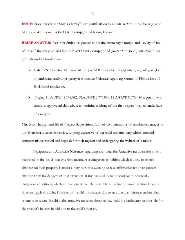 Unit 9 final project and internal memo of law instructions