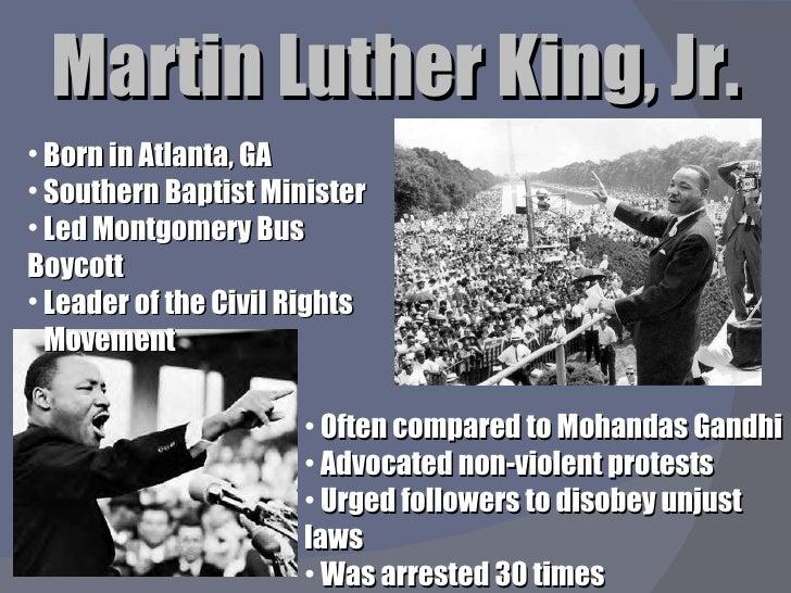 martin luther king jr accomplishments