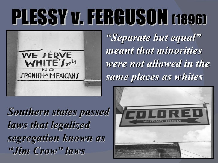 essay about plessy vs ferguson