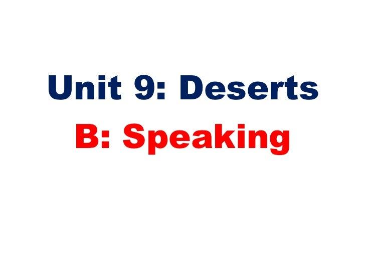 Unit 9  speaking Slide 2