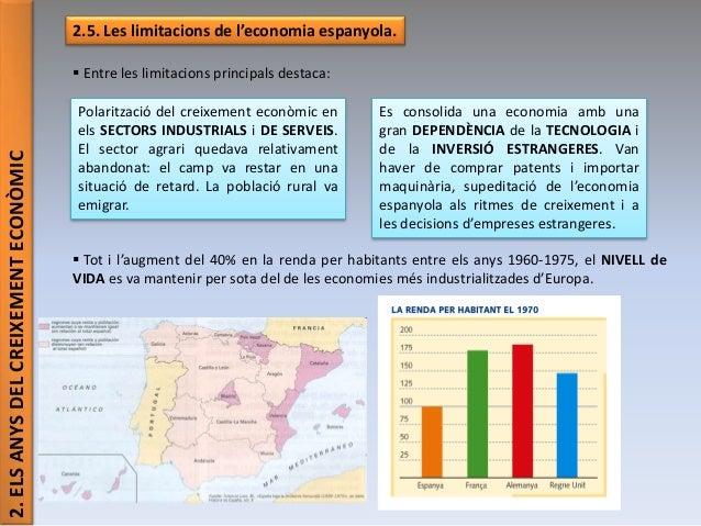 2.ELSANYSDELCREIXEMENTECONÒMIC 2.5. Les limitacions de l'economia espanyola.  Entre les limitacions principals destaca: ...