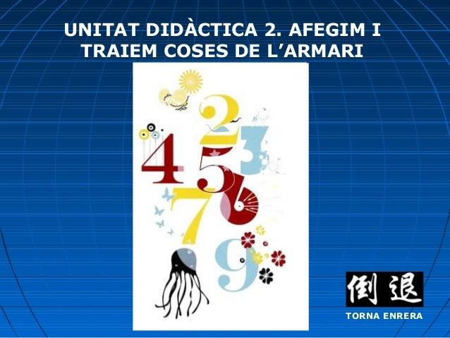 UNITAT DIDÀCTICA 2. AFEGIM I TRAIEM COSES DE L'ARMARI  TORNA ENRERA