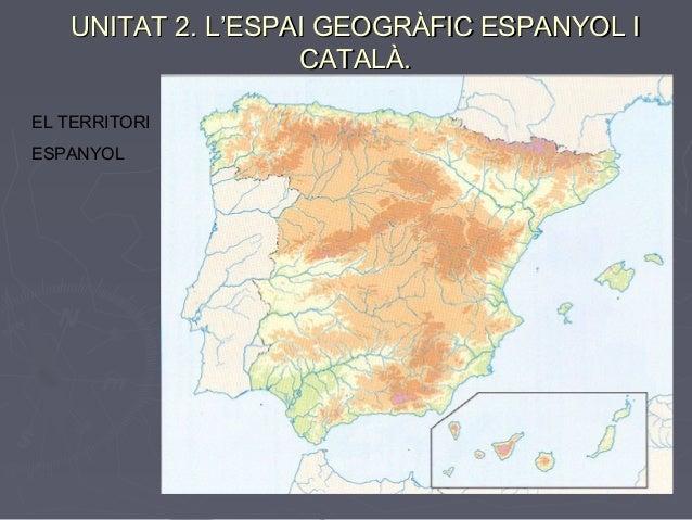 UNITAT 2. L'ESPAI GEOGRÀFIC ESPANYOL I                   CATALÀ.EL TERRITORIESPANYOL