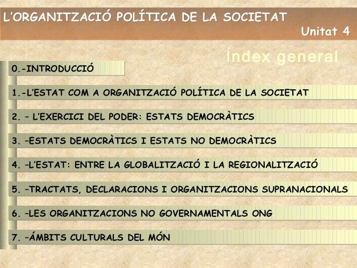 L'ORGANITZACIÓ POLÍTICA DE LA SOCIETAT                                                     Unitat 4                       ...