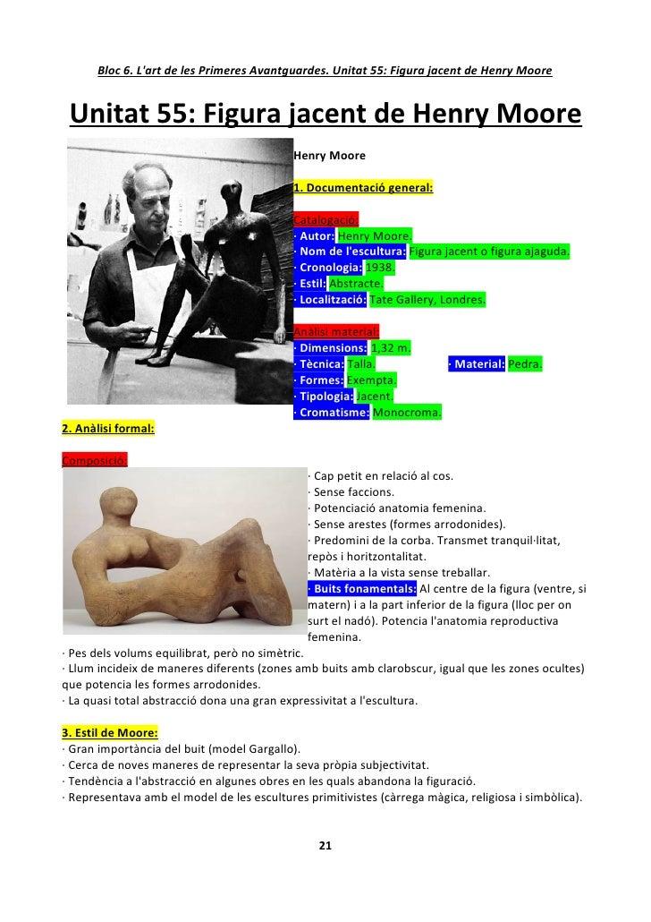 Bloc 6. L'art de les Primeres Avantguardes. Unitat 55: Figura jacent de Henry Moore    Unitat 55: Figura jacent de Henry M...