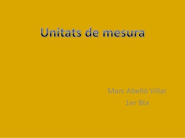 Marc Abelló Villar 1er Btx