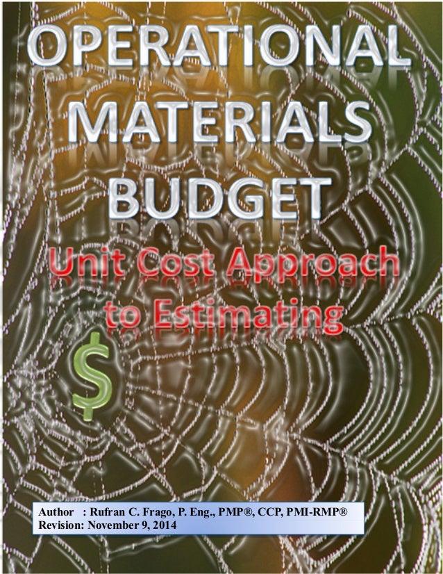 Author : Rufran C. Frago, P. Eng., PMP®, CCP, PMI-RMP®  Revision: November 9, 2014