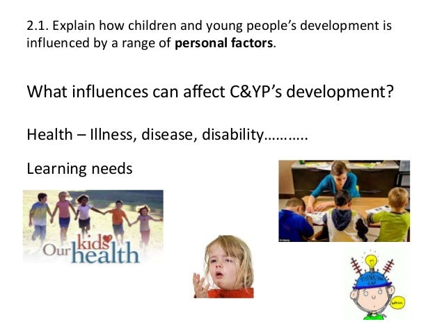 explain how children and young peoples development is influenced by a range of external factors