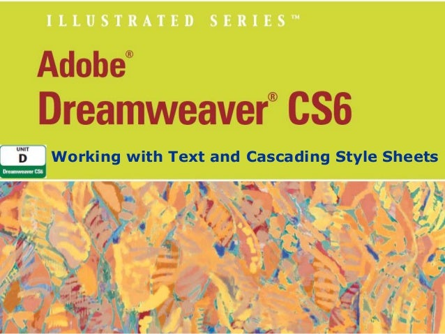 Working with Text and Cascading Style Sheets