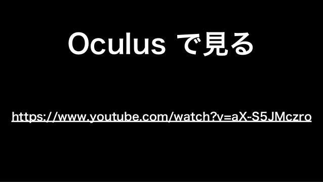 VRを使ったビジュアライゼーションの可能性について @Unite 2015 Tokyo