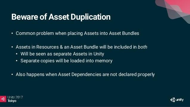 Asset Dependencies Material A Material B Texture (shared) Shader A Shader B