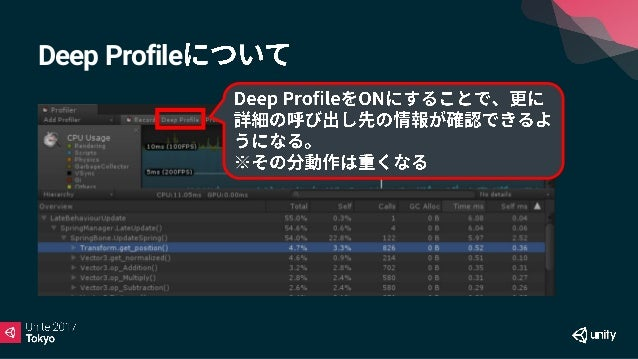• Unity 5.6 • 300 Save Editor • https://github.com/wotakuro/UnityProfilerIntervalSave • Unity5.5 • Android/iOS PC • https:...