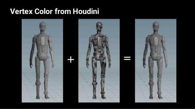 Vertex Color from Houdini 43 — — —