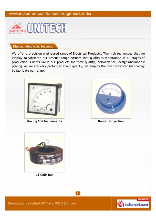 Electro Magnetic Meters:We offer a precision engineered range of Electrical Products. The high technology that weemploy to...