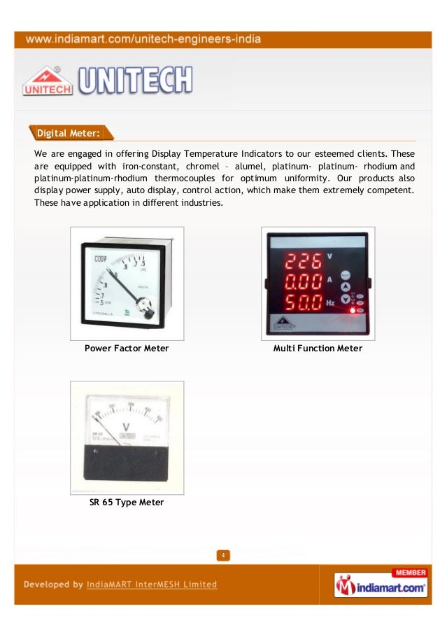 Digital Meter:We are engaged in offering Display Temperature Indicators to our esteemed clients. Theseare equipped with ir...